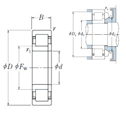 100 mm x 215 mm x 47 mm  NSK NUP 320 cylindrical roller bearings