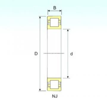 100 mm x 215 mm x 47 mm  ISB NUP 320 cylindrical roller bearings