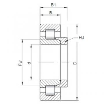 110 mm x 240 mm x 80 mm  ISO NH2322 cylindrical roller bearings