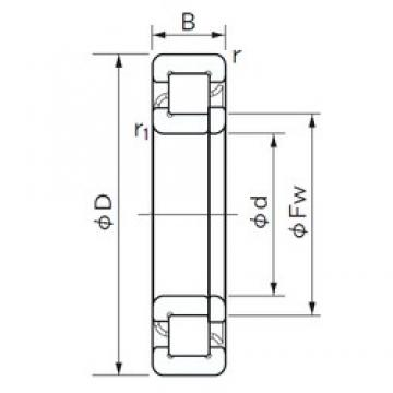 110 mm x 200 mm x 38 mm  NACHI NUP 222 E cylindrical roller bearings